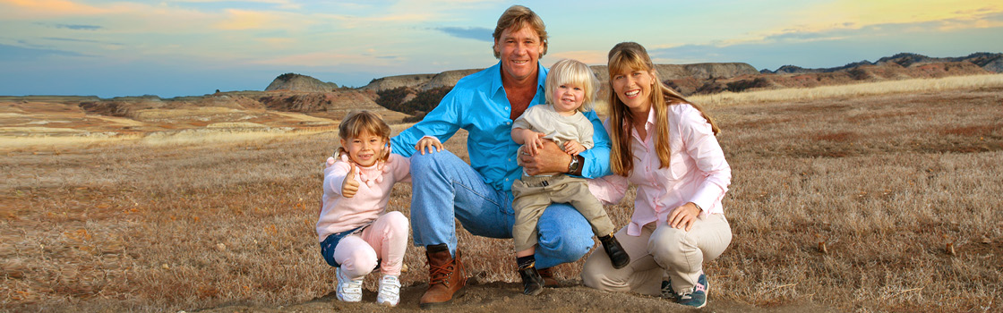 A young Irwin family.
