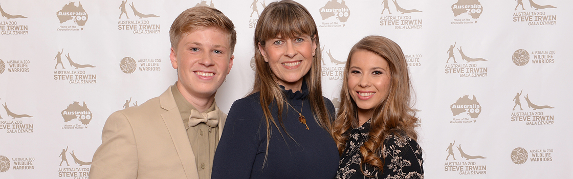 Irwin family on the red carpet.