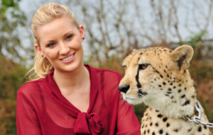 Visitor with a Cheetah.