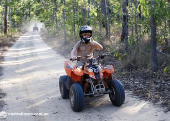Robert on a quad bike.
