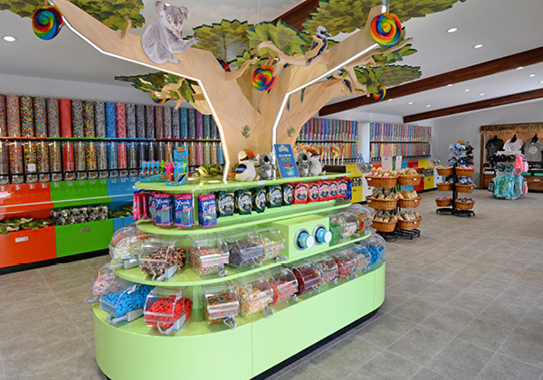 Candy area.