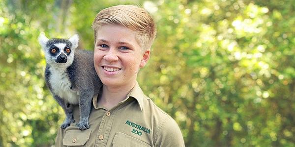 Robert Irwin with ring-tailed lemur
