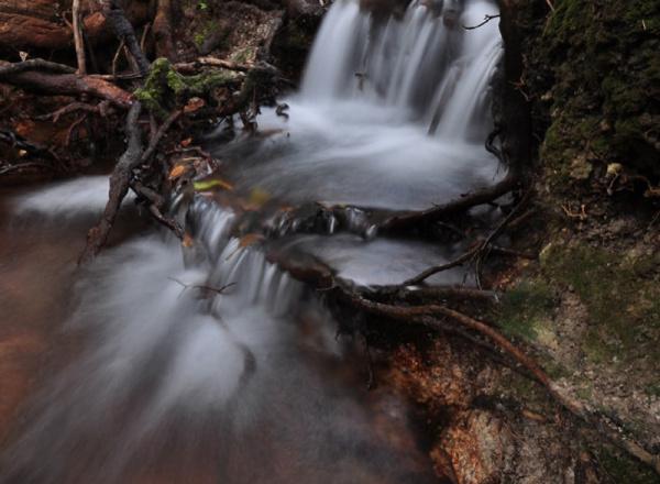Mini waterfall.