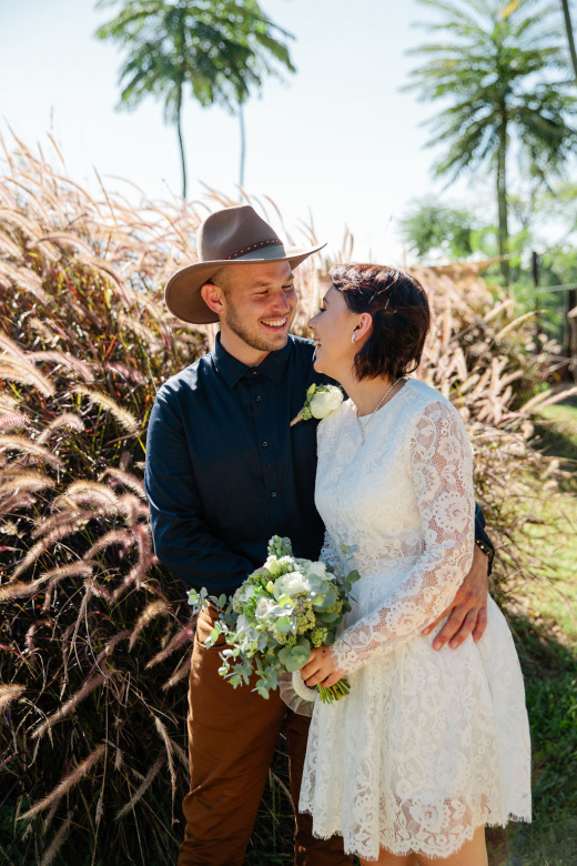 Camilla bride and Drew groom