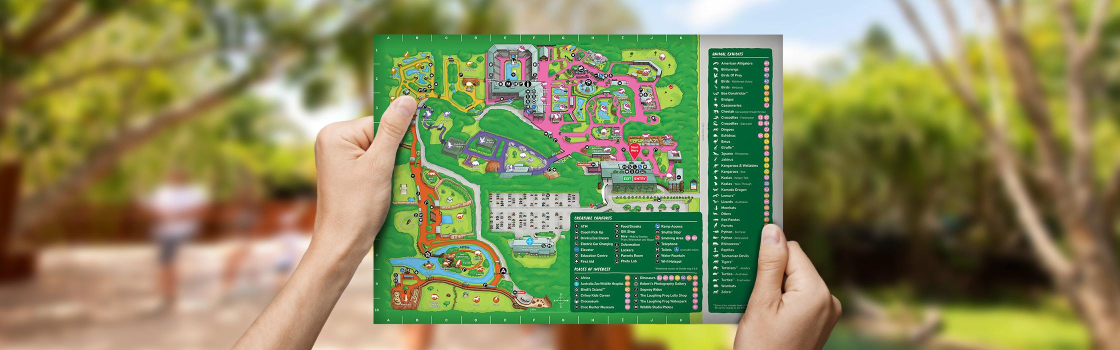 Australia Zoo Map Hands