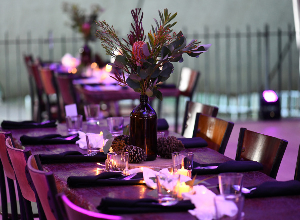 zoo wedding reception